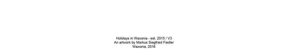 Markus S Fiedler - Holidays in Waxonia - Header - Art - Life - Wax - Bottom